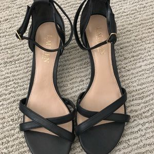 Ralph Lauren Heel Sandals Black Sz 6